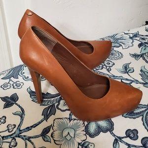 Aldo Shoes - Cognac color Aldo heels